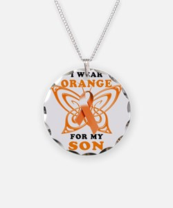 I Wear Orange for my Son Necklace Circle Charm