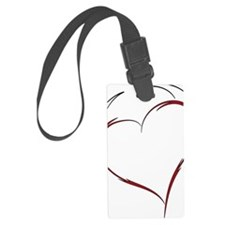 Heart with Horns Luggage Tag