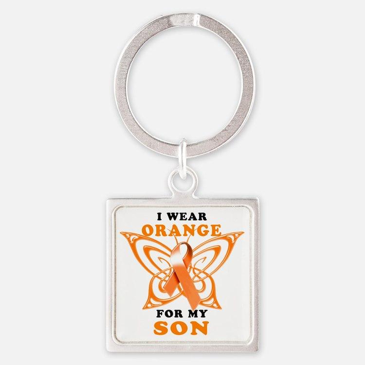 I Wear Orange for my Son Square Keychain