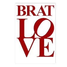 brat love Postcards (Package of 8)