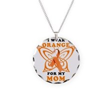 I Wear Orange for my Mom Necklace Circle Charm