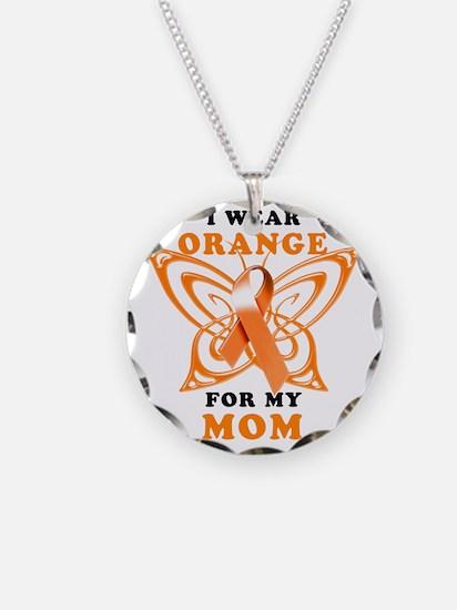I Wear Orange for my Mom Necklace Circle Charm