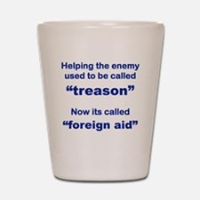 HELPING THE ENEMY USED TO BE CALLED TRE Shot Glass