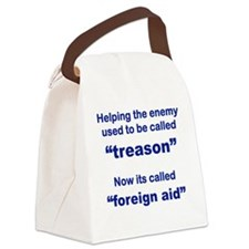 HELPING THE ENEMY USED TO BE CALL Canvas Lunch Bag