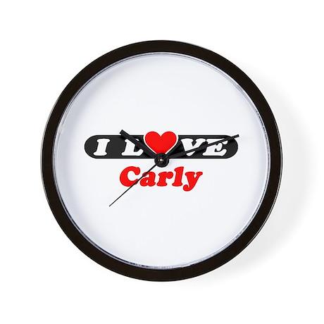 I Love Carly Wall Clock