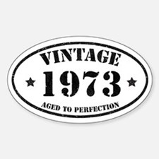 Vintage Aged to Perfection Sticker (Oval)