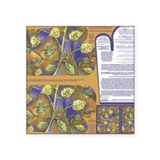 """Napkins with Leaves oven mi Square Sticker 3"""" x 3"""""""