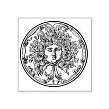 "Medusa Square Sticker 3"" x 3"""