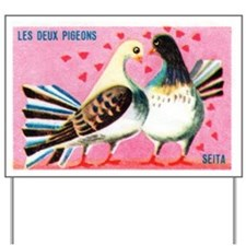 The Two Pigeons Fable French Matchbox La Yard Sign