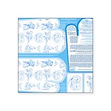 """Napkins with Aqua Blue and  Square Sticker 3"""" x 3"""""""