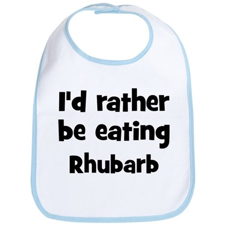 Rather be eating Rhubarb Bib