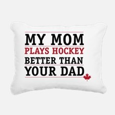 Hockey mom Rectangular Canvas Pillow