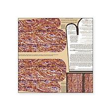 "Napkins with Wood Planks Po Square Sticker 3"" x 3"""