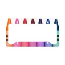 crayons License Plate Holder