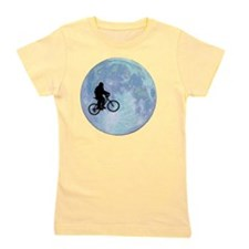 Sasquatch On Bike In Sky With Moon Girl's Tee