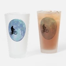 Sasquatch On Bike In Sky With Moon Drinking Glass