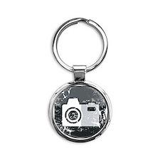 Kamera-Symbol (used look) Round Keychain