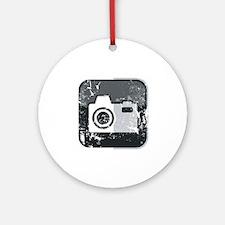 Kamera-Symbol (used look) Round Ornament