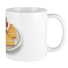 Grilled Cheese Sandwich and Fruit Mug