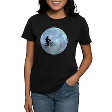 Sasquatch On Bike In Sky Agai Tee
