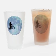 Sasquatch On Bike In Sky Against Mo Drinking Glass