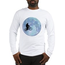 Sasquatch On Bike In Sky With  Long Sleeve T-Shirt