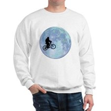 Sasquatch On Bike In Sky With Moon Sweatshirt