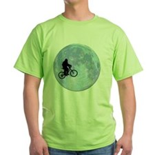 Sasquatch On Bike In Sky With Moon T-Shirt
