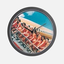 Flight Attendants Wall Clock