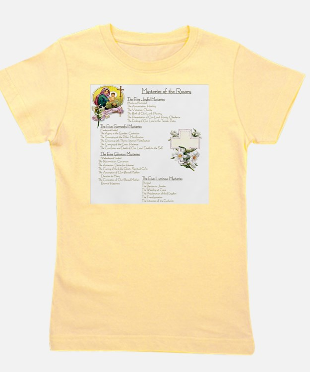 Mysteries of the Rosary Large Girl's Tee