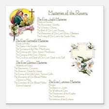 "Mysteries of the Rosary  Square Car Magnet 3"" x 3"""