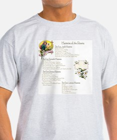 Mysteries of the Rosary Large T-Shirt