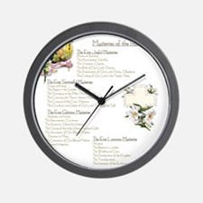 Mysteries of the Rosary Large Wall Clock
