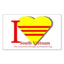 I love Viet Nam Cong Hoa Decal