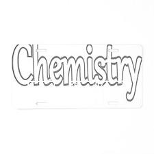 Chemistry He She Elements Aluminum License Plate