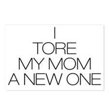 Tore Mom a new one Postcards (Package of 8)