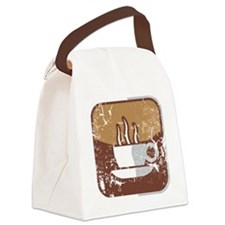 Kaffee-Symbol (used-Look) Canvas Lunch Bag
