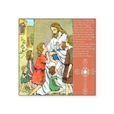 """Act of Faith Child Large Square Sticker 3"""" x 3"""""""
