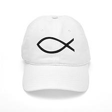 Christian Fish Symbol Baseball Baseball Cap