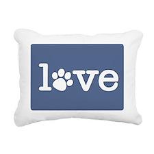 Pet love (blue) Rectangular Canvas Pillow