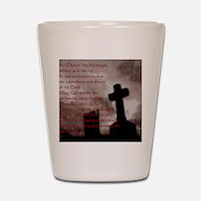 Saint Michael the Archangel Gothic Cros Shot Glass