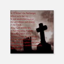 """Saint Michael the Archangel Square Sticker 3"""" x 3"""""""