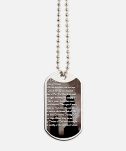 Hail Holy Queen with Gothic Cross Prayer  Dog Tags