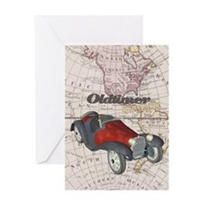 Old Timer On Tour Greeting Card