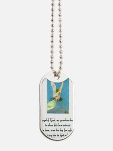 Guardian Angel Prayer for Girls Prayer Ca Dog Tags