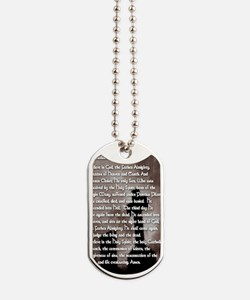 Apostles Creed with Gothic Cross Prayer C Dog Tags