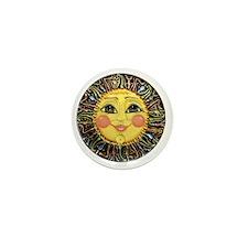 PLATE-SunFace-Black-rev Mini Button