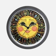 PLATE-SunFace-Black-rev Wall Clock