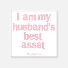 "Best Asset Pink Square Sticker 3"" x 3"""