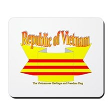 The Vietnamese-american flag ribbon Mousepad